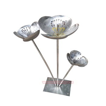 Hot Selling Customized Products Stainless Steel Lotus Flower Sculpture