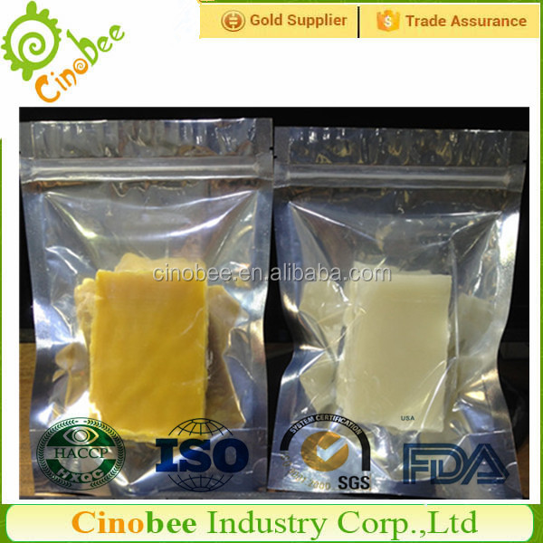 Honey scented natural hard bee wax
