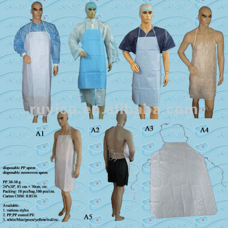 disposable PP/PP+PE/SMS/Microporous apron