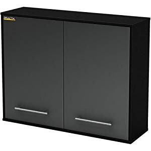 South Shore Karbon Collection Wall Storage Cabinet (Pure Black/Charcoal)