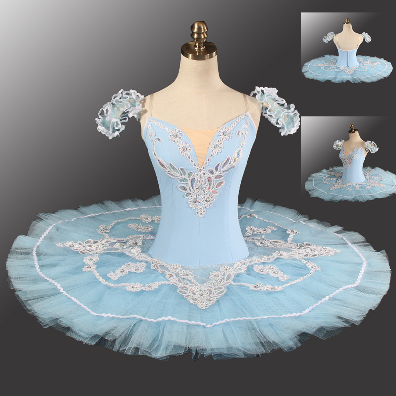 Cielo Blu Donne Pancake Balletto Professionale di Ballo TUTU Dress Adulti