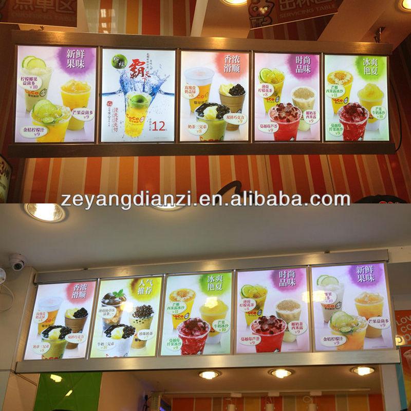 La publicit murale led panneau r tro clair restaurant for Fourniture restaurant