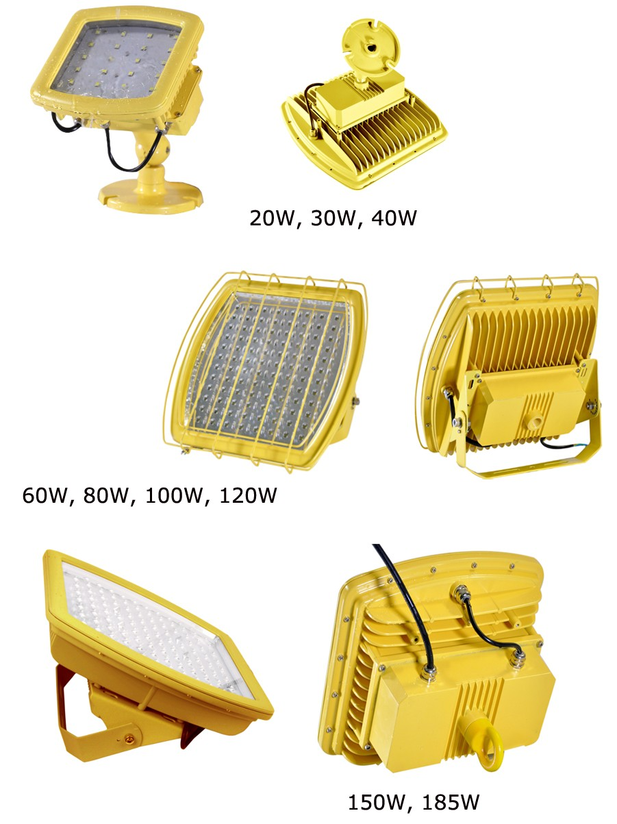 Best IP68 ATEX UL DLC SAA five years warranty explosion-proof lamp