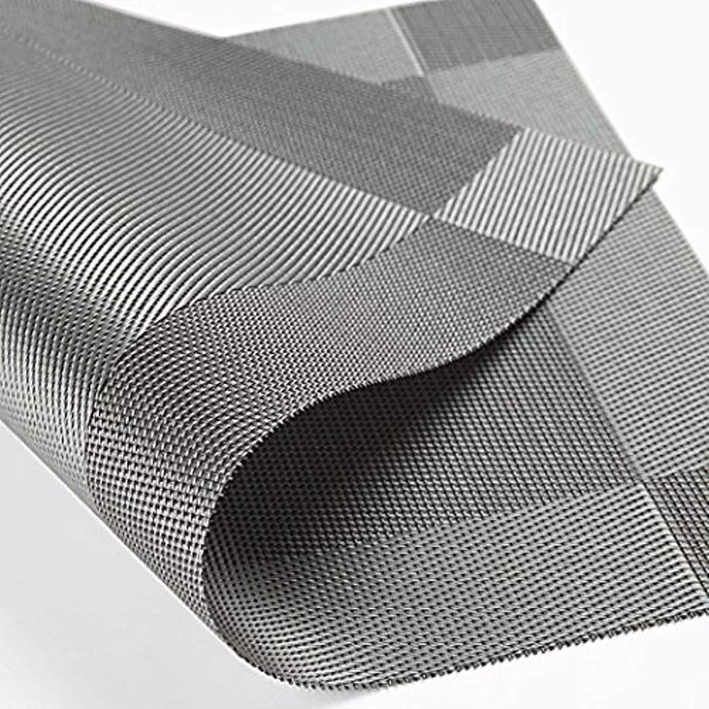 Placemats, Heartte@ [Set of 6] PVC Dining Room Placemats for Table Heat Insulation Stain-resistant Woven Vinyl Kitchen Placemat Vinyl Placemats (XCD-X6-01)