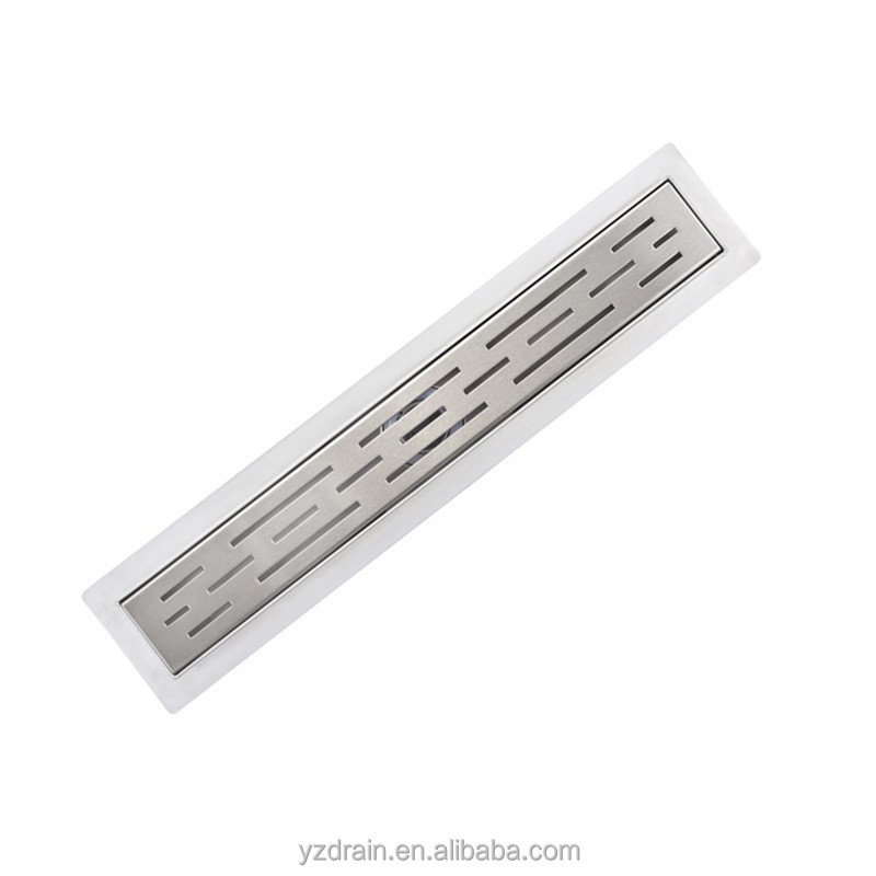 plastic base stainless steel bathroom accessory linear shower drain cover
