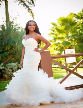 China Custom Made Lace African Ghana Wedding Dresses 2017