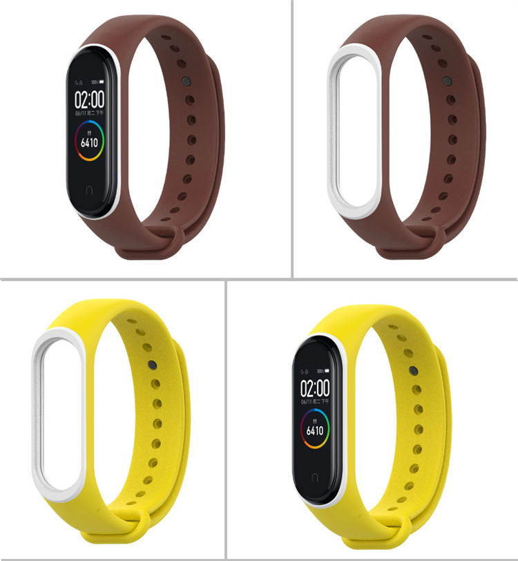Smart Accessories Miband 4 Strap replace for xiaomi mi band 4 sports silicone wrist strap bracelet with varied colors