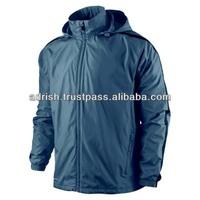 2014 Black Hooded Wear Women Rain Jacket