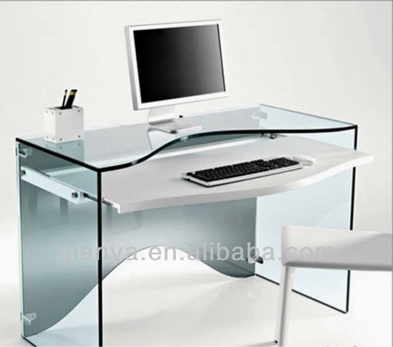 nouveau design plein verre tremp maison bureau d 39 ordinateur de bureau cy d2002 table tables en. Black Bedroom Furniture Sets. Home Design Ideas