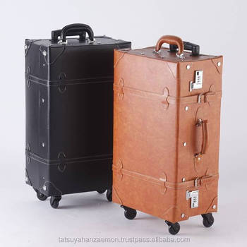 vintage luggage. japan bag supplier wholesale suitcases antique design vintage suitcase luggage case pvc leather travelling bags with