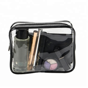Travel transparent pvc toilet cosmetic bag clear make up pouch