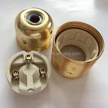ceramic lamp socket earth grounded wire ceramic three pin lamp sockets for diy lamp