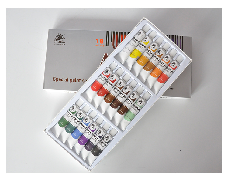 Acryl Farbe (12 Farbe 12 ml Box Verpackt Set)
