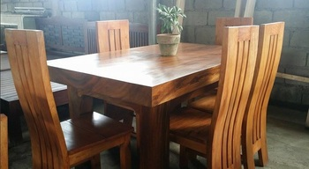 Pure Molave Wood 6 Seater Dining Set