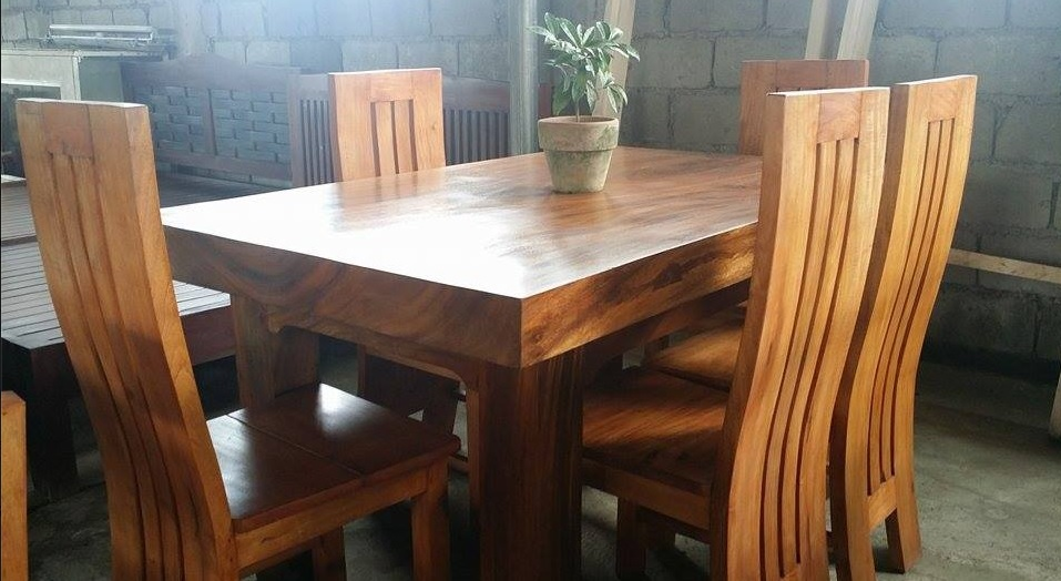 Philippines Wood Dining Set Pictures to Pin on Pinterest  : Pure Molave Wood 6 seater Dining Set from www.pinsdaddy.com size 957 x 524 jpeg 148kB