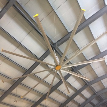 Industrial Warehouse Ceiling Fan Buy Alumium 5 Pcs Blades 22ft 24ft Low Speed Industrial Ceiling Fan China Manufacturer Factory Price Big Ceiling