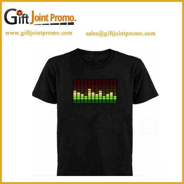 Promotional Party EL Flashing Panel T Shirts