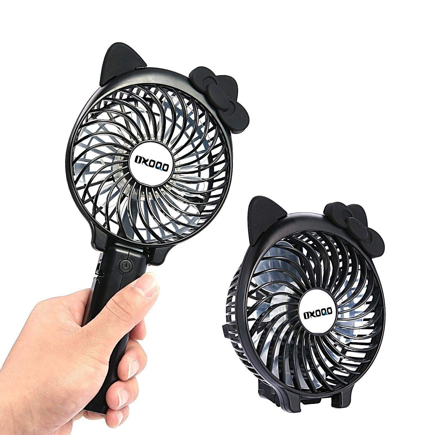 KOBWA Portable Mini Fan, Folding Personal Handheld Fan, Built-In 2500mAh Rechargeable Battery, Equipped With 3 Kinds of Strong Wind, Mini Size for Indoor Home, Travel & Camping