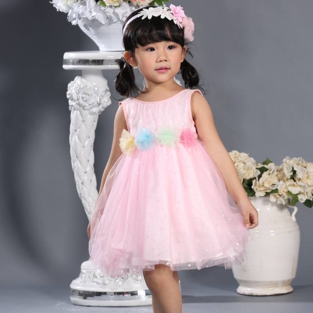 Niños Vestido Decoración Flores Cenicienta Vestido Flor Chica ...