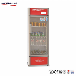 Vertical Juice Display Glass Door Freezer Gelato Refrigerator Stand