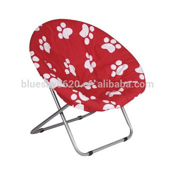 Half Moon Chair Dismountable Big Print Folding Moon Chair Double Moon Chair