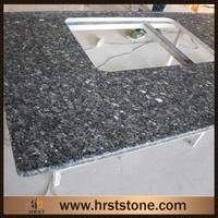 Polished blue pearl granite bathroom vanity tops