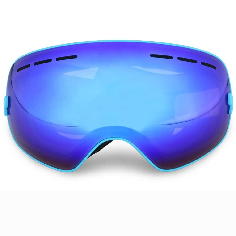 FRFG Ski/Sports Sunglasses New ski Goggles Adult Professional Single and Double Board ski Glasses Large Spherical Double Anti-Fog Men and Women, Blue Film Blue Frame