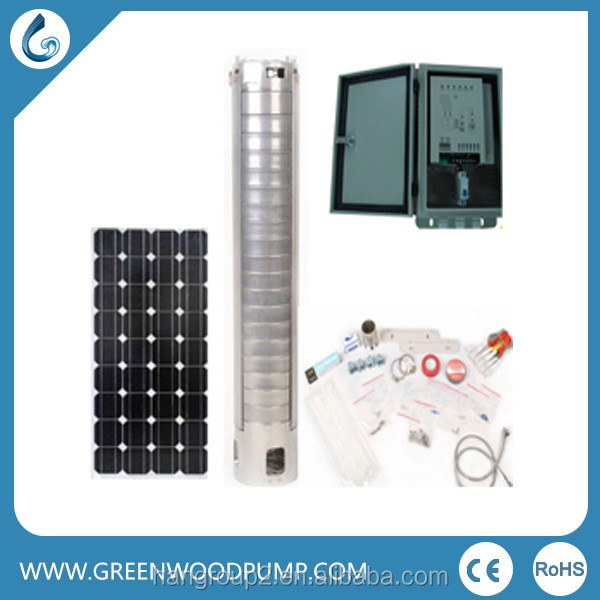 solar powered irrigation water pump deep bore well submersible water pump