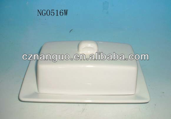 white ceramic butter dish with lid  porcelain butter dish bone china butter dish with lid