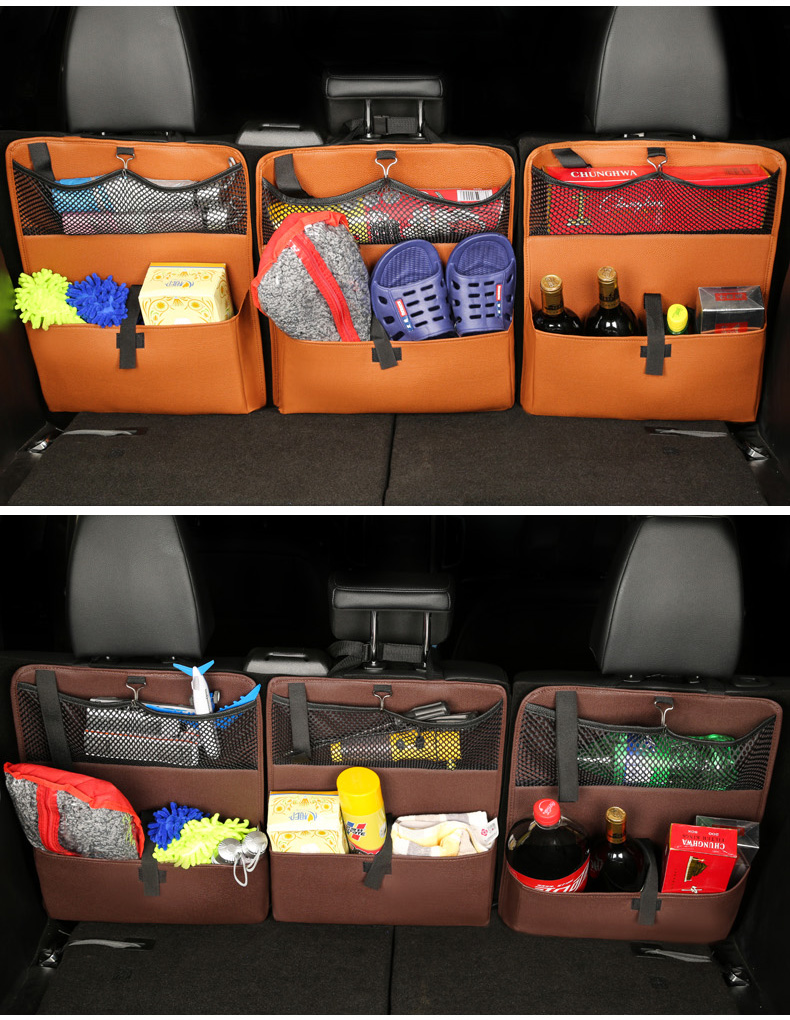 Unique Design  Durable Pockets Car Seat Trunk Storage Organizer SUV With Straps
