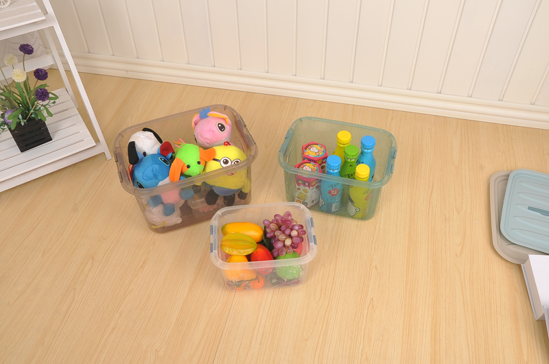 Home Stackable PP Plastic Kids Toy Storage Box With Airtight Lids