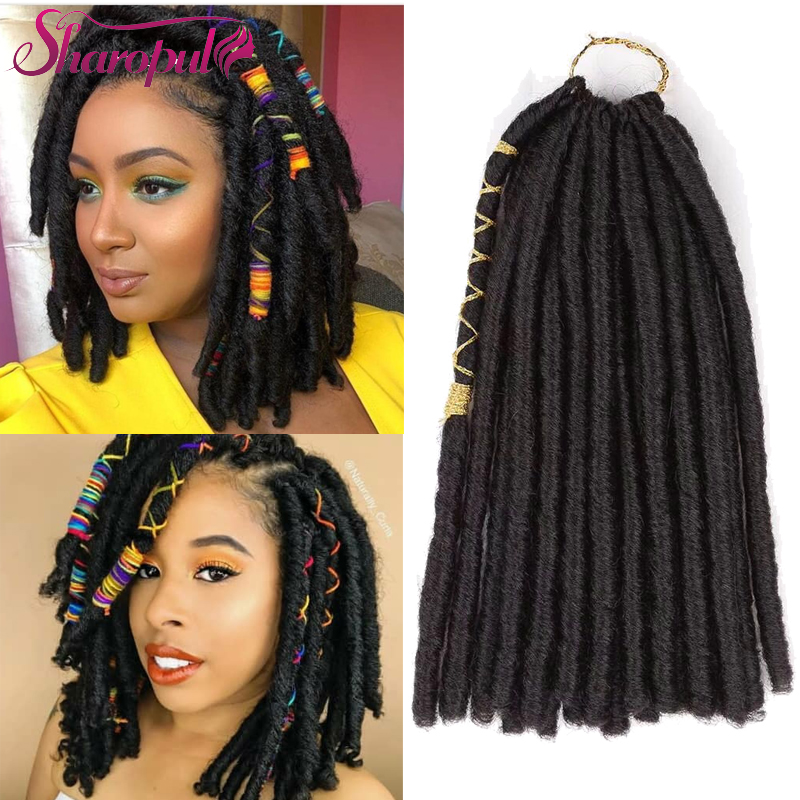 12inch LUNA LOC 20roots/Pack Crochet hairstyle Nu locs synthetic Hair