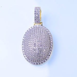 Fashion Jewelry Wholesale 925 Sterling Silver Round Pendant Gold Charms