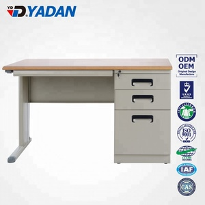 wooden top hot sale modern design metal steel vused office furniture with drawer office desk with cabinet