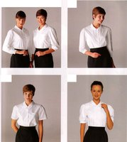 Customize 100%cotton white formal shirt uniform