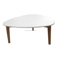 scandinavian solid oak wood side table with white MDF top