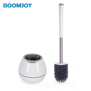 Hot Selling Ready To Ship Round Head Soft Tpr Toilet Brush Set Shopping Online Durable Cleaning Brush For Bathroom
