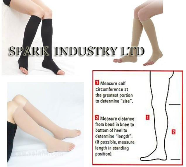 9463b4e919 Knee High Medical Pregnancy Compression Stockings With Open Toe ...