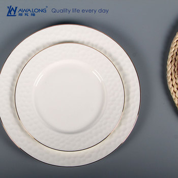 Delicate Unique Shaped Porcelain Plate / Relief Bulk Catering Custom ...