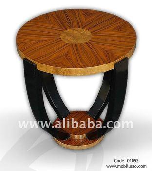Elegant Art Deco Style Round Side Table