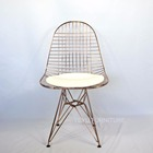Modern Design Classic Metal Wire Chair Chromed Rose Gold Color steel wire chair