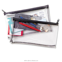 Wholesale school multiple waterproof zipper clear PVC vinyl stationery bag