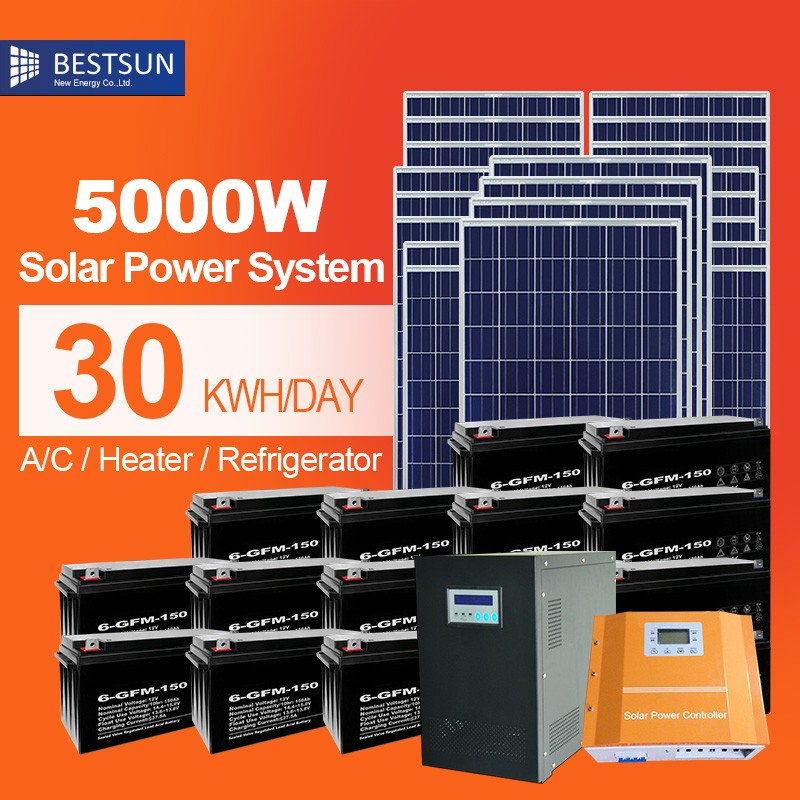 complete 5KW Solar Power <strong>System</strong> Off Grid For home