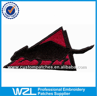 Embroidery factory animal patches products, Triangle fabric embroidery mouse/ rat patches design