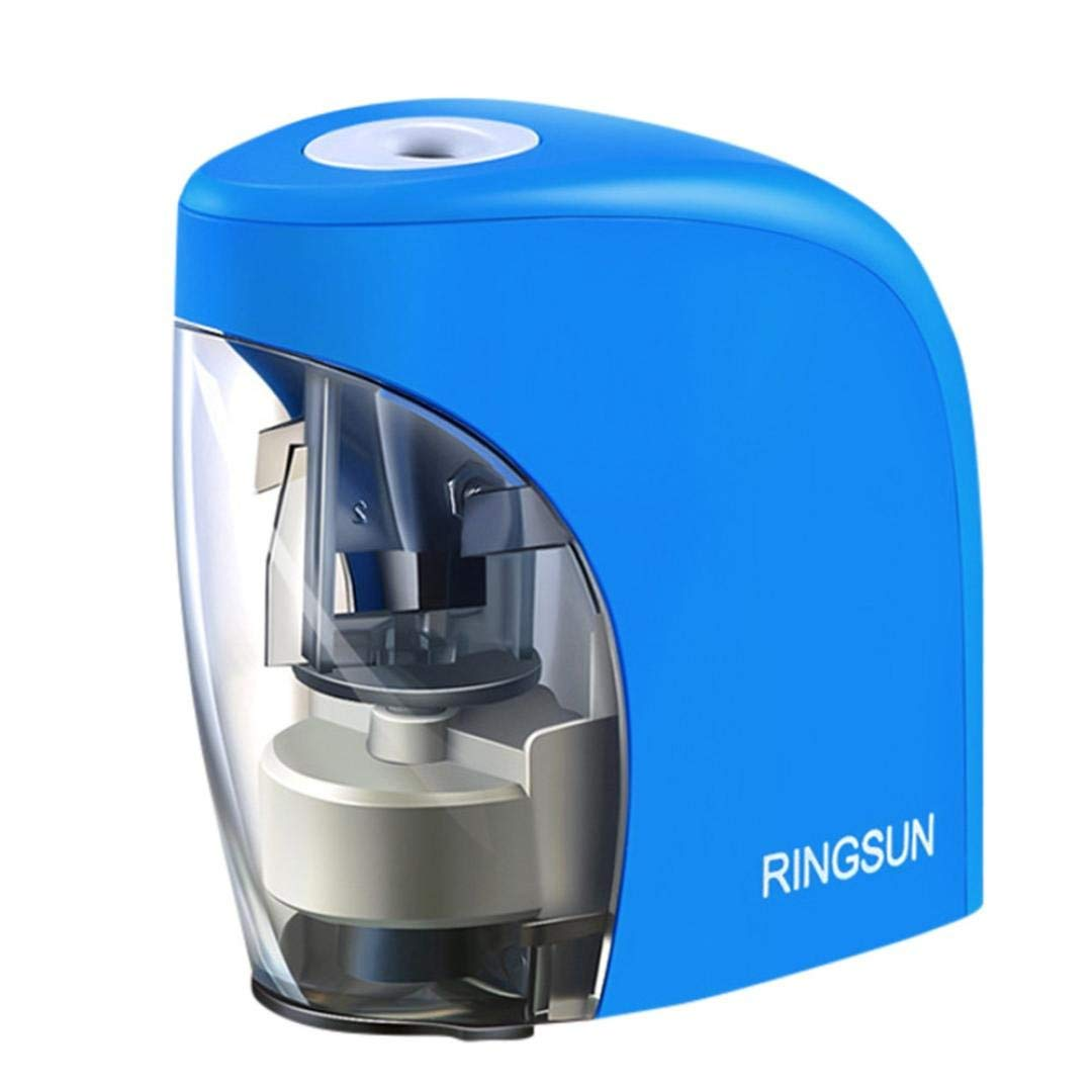 AutumnFall Electric Pencil Sharpener with Auto Feature,Durable and Portable Pencil Sharpener for for KDS,Students, Teachers, Artists, Engineers,Industrial Designers(Batteries Not Included) (Blue)