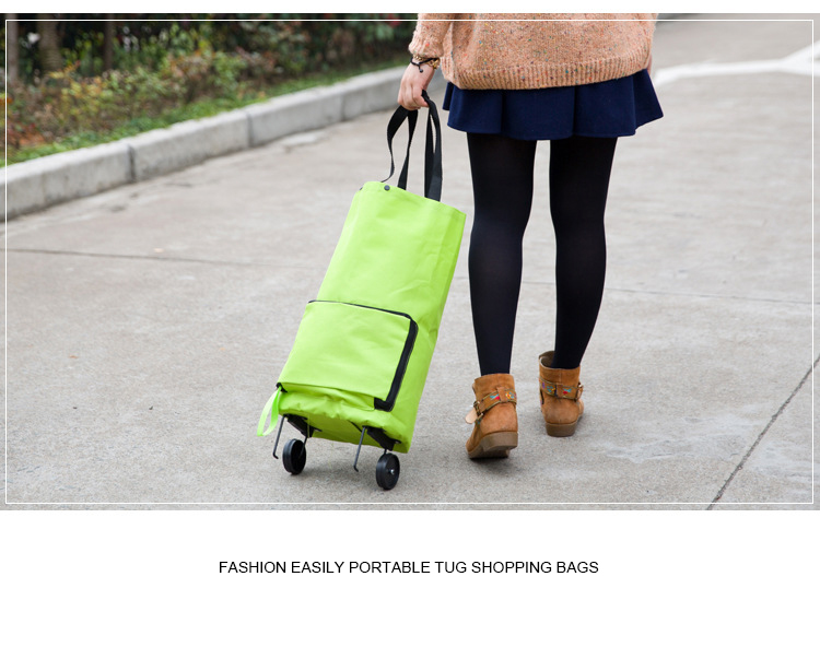 Eco-friendly Shopping Trolley Bag Collapsible Wheeled Shopping Trolley Bag