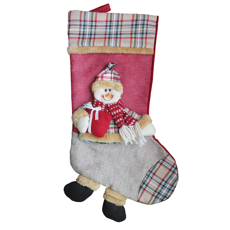 Wholesale Christmas Stocking Gifts Large Size Santa Claus Snow Man Reindeer Snowman Santa Christmas Stocking Stand