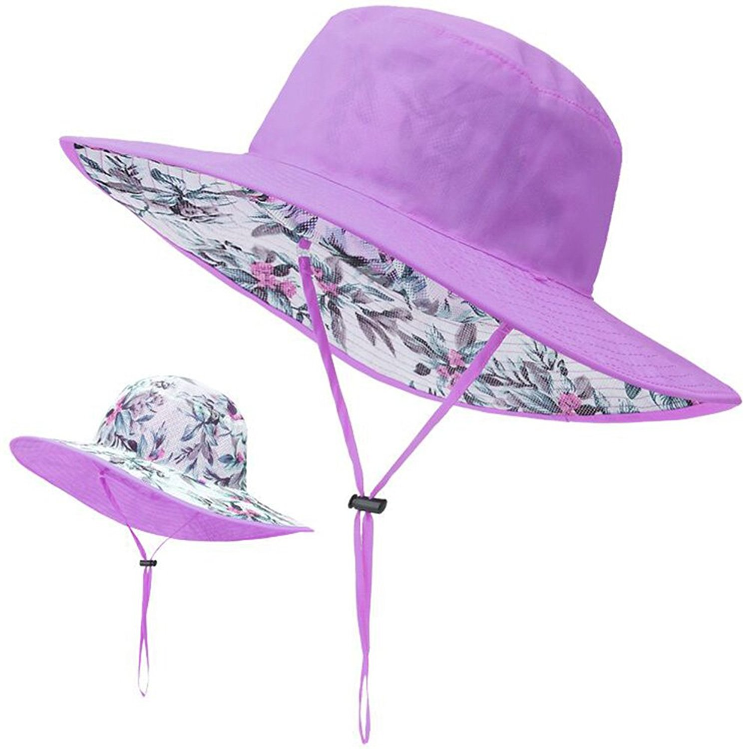 e3290496778 Get Quotations · Blackblume Womens Double-side Summer Cotton Beach Hat SPF  50+ UV Protection Sun Hat