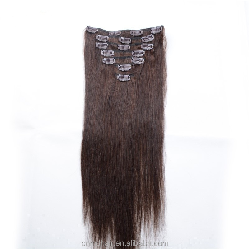 hot sale Dark Brown Indian Remy Real Human Hair Extensions 7 pcs set