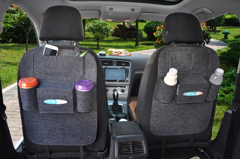 Back Seat Organizer Type And Polyester Material Car Storage Bag Felt Automobile